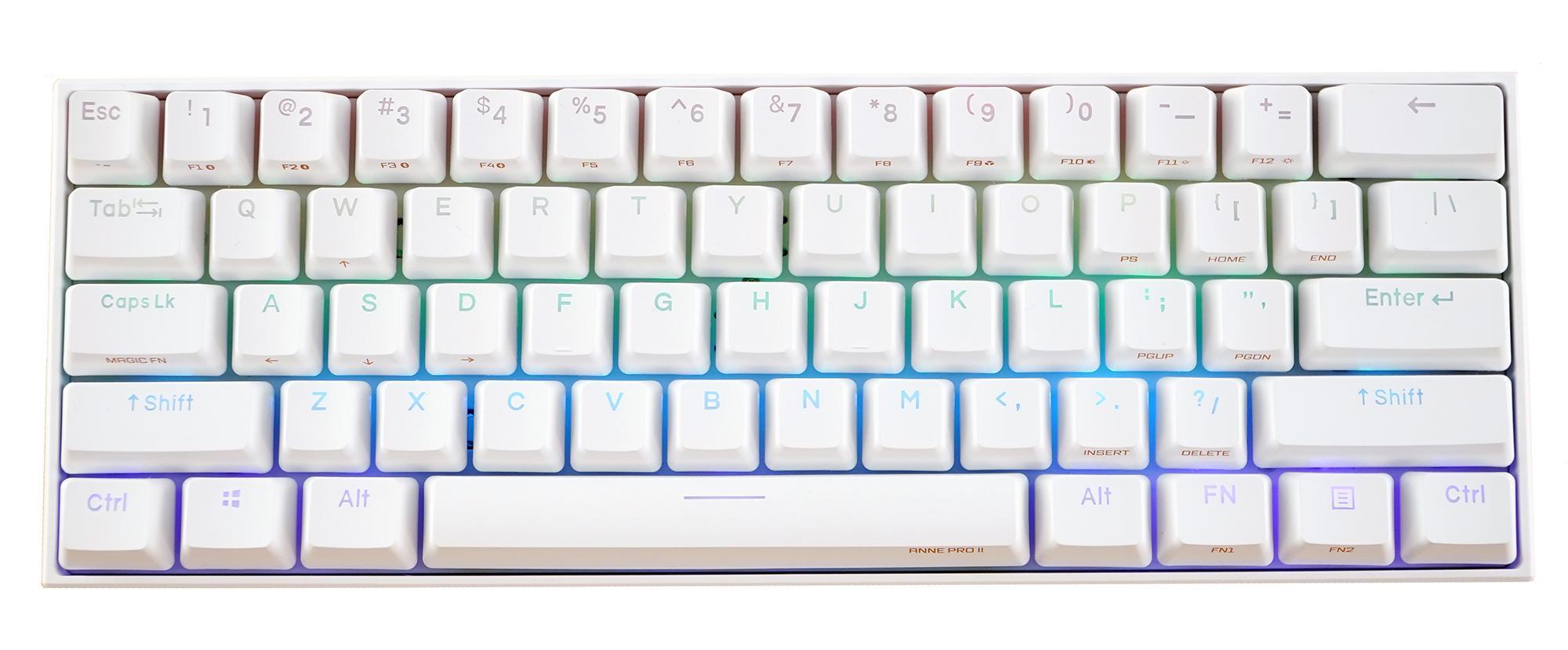 Anne Pro 2 Mechanical Gaming Keyboard 60/% Backlit Keyboard Gateron Brown Switch