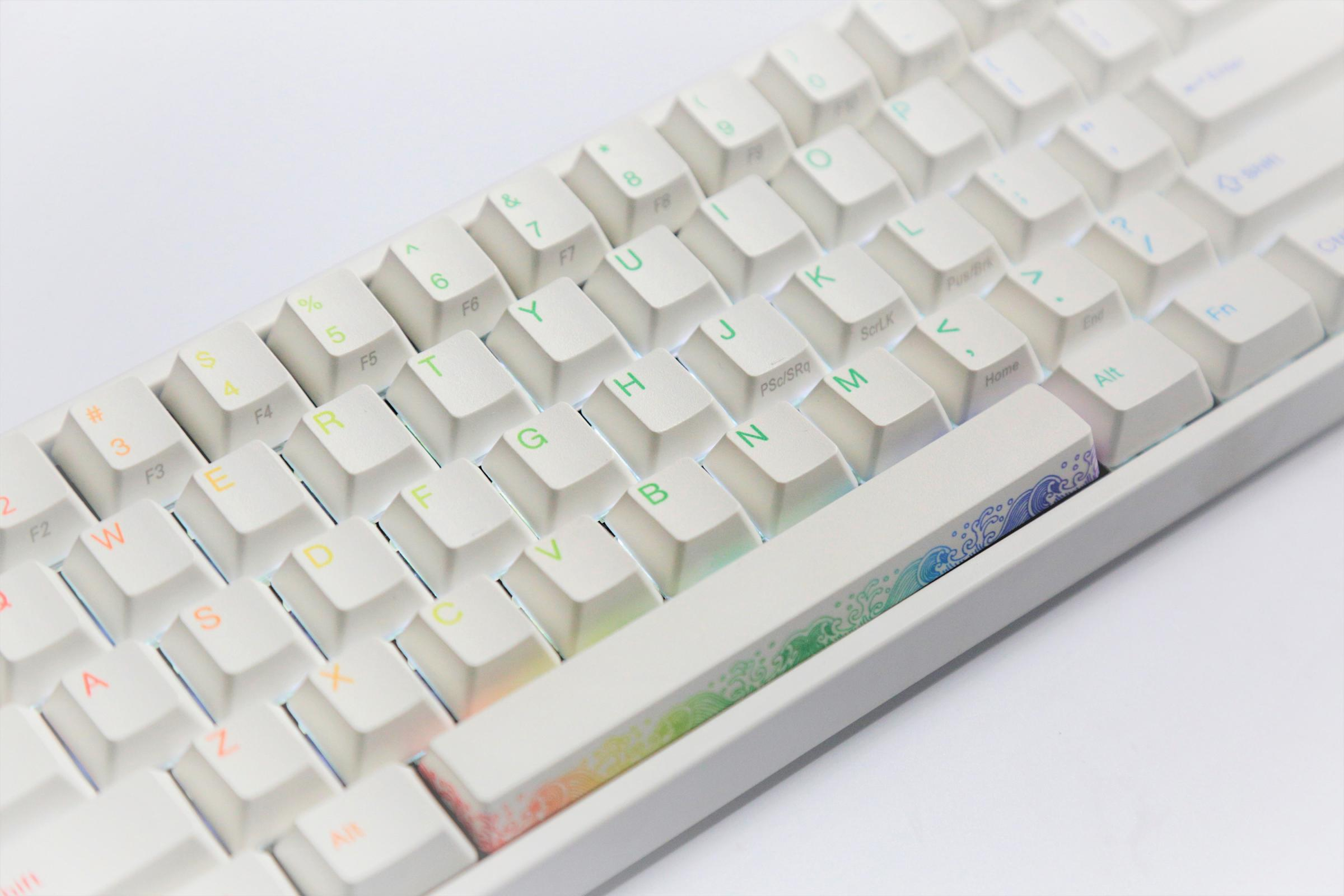 Ducky Miya Pro Rainbow White Led 65 Dye Sub Pbt