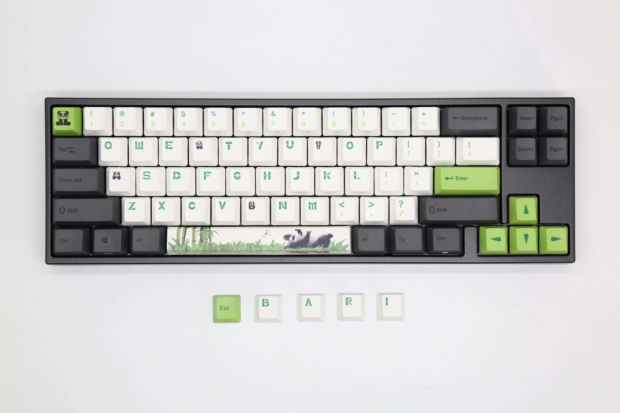 Ducky MIYA Pro Panda White LED 65% Dye Sub PBT Mechanical Keyboard with  Cherry MX Black, Brown, Blue, Red, Clear, Silver, or Silent Red switches