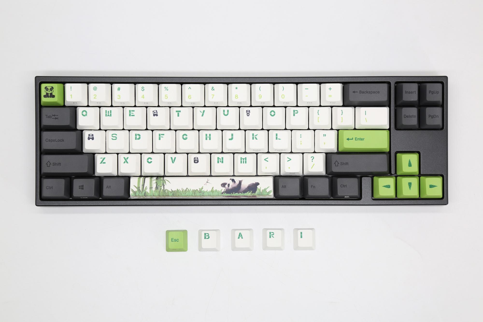 Ducky MIYA Pro Panda White LED 60% Dye Sub PBT Mechanical Keyboard (Cherry  MX Blue)