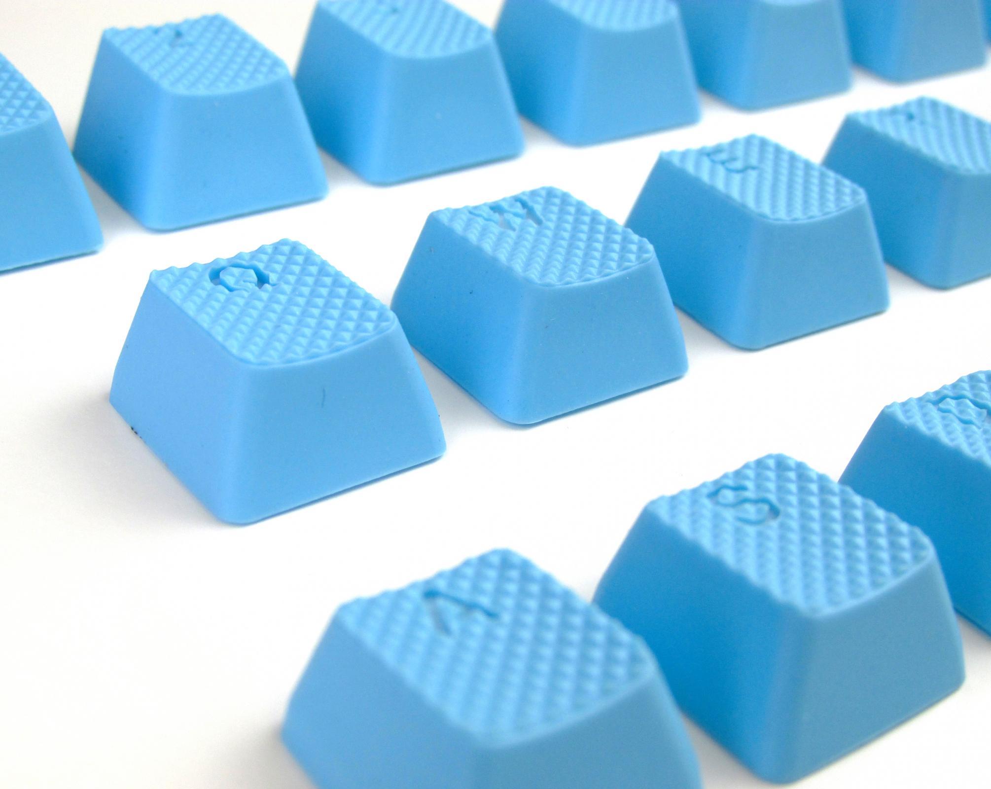 18-Key TPR Backlit Double Shot Keycap Set - Neon Blue (Tai-Hao)