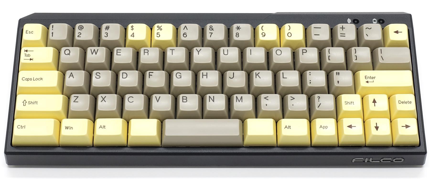 72-Key ABS Doubleshot MINILA Keycap Set - Custard x Chocolate (Filco)