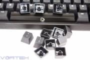 104 Key Black Translucent PBT+POM Double Shot Keycap Set