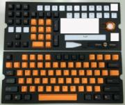 104 Key PBT Double Shot Keycap Set - Orange & Black