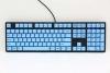 One Blue Dye PBT Sublimated Keycaps  (Blue Cherry MX)