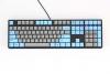 One Blue & Grey PBT Dye Sublimated Keycaps  (Blue Cherry MX)