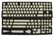 Blank White PBT Keycaps - 120 Keycaps