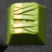 Hammer MUMMIE Artisan Keycap - Matcha with Gold Accent  <span class='ltd'>(< 10)</span>