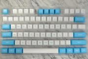 127-key Doubleshot ABS SA Profile Keycap Set - Blue & White