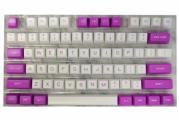127-key Doubleshot ABS SA Profile Keycap Set - Purple & White  <span class='ltd'>(< 5)</span>