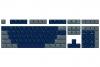 108 Key ABS Double Shot Cubic Keycap Set - Midnight Dawn