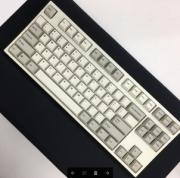 FC750R PBT Two-Tone White Doubleshot  (Brown Cherry MX)